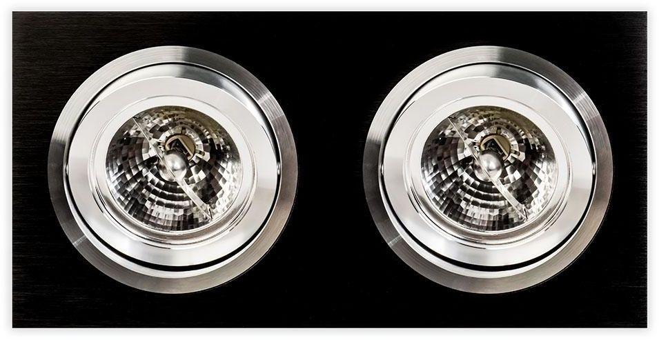 Oprawa wpuszczana Faro II Nero Orlicki Design minimalistyczna czarna lampa sufitowa