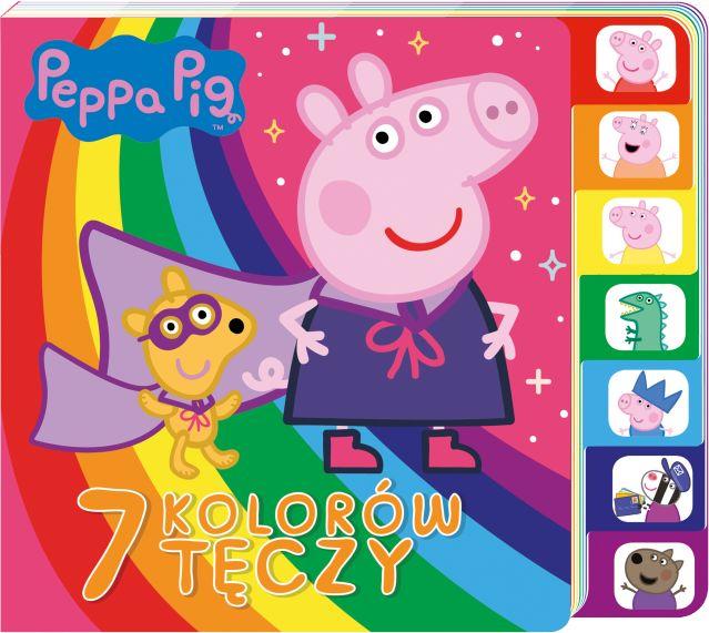 Świnka Peppa 7 kolorów tęczy