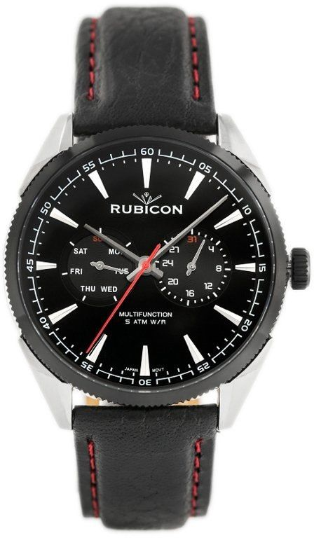 ZEGAREK MĘSKI RUBICON RNCD69 - MULTIDATA (zr081c)