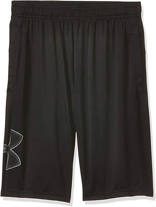 Under Armour Męskie oddychające szorty dresowe dla mężczyzn, wygodne krótkie spodnie o luźnym kroju Tech Graphic czarny czarny (Black) S