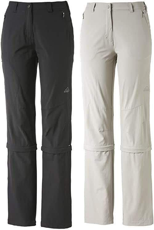 McKINLEY Damskie spodnie z odpinanymi nogawkami Mandorak Kg szary szary 18