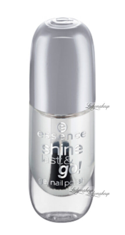 Essence - SHINE LAST & GO! GEL NAIL POLISH - Żelowy lakier do paznokci - 01 - ABSOLUTE PURE