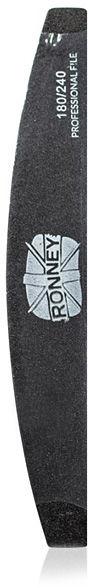 Ronney Dwustronny pilnik do paznokci Półksiężyc, gradacja 180/240 1 szt.