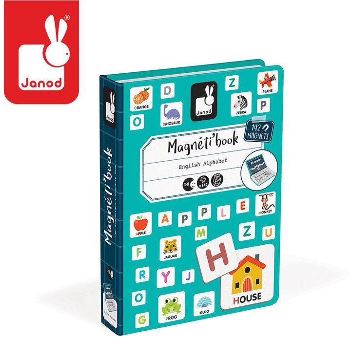 Puzzle magnetyczne dla dzieci nauka alfabetu J02712-Janod, układanka magnetyczna