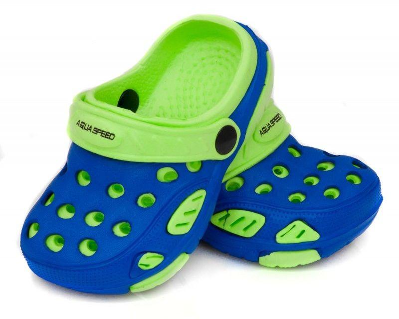 Klapki basenowe AquaSpeed Lido 01 niebiesko-zielone
