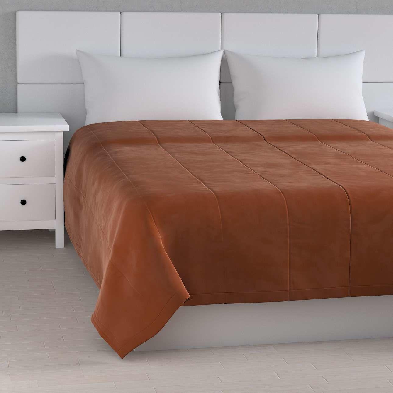 Narzuta pikowana w pasy Velvet 260 x 240 cm, karmelowy, szer.260  dł.240 cm, Velvet
