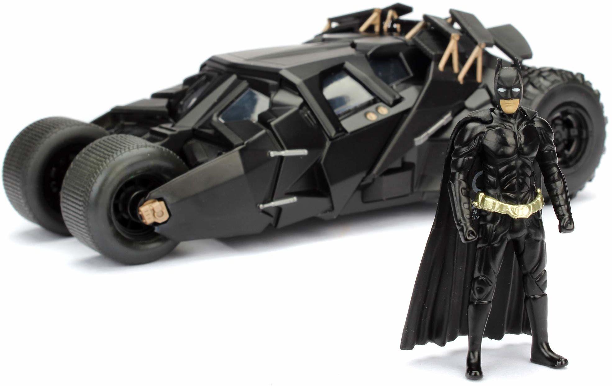 Jada Zabawki 253215005 Batmóvil coche metal 2008 El Caballero Oscuro 1:24 Batman-The Dark Knicerz Batmobile, czarne