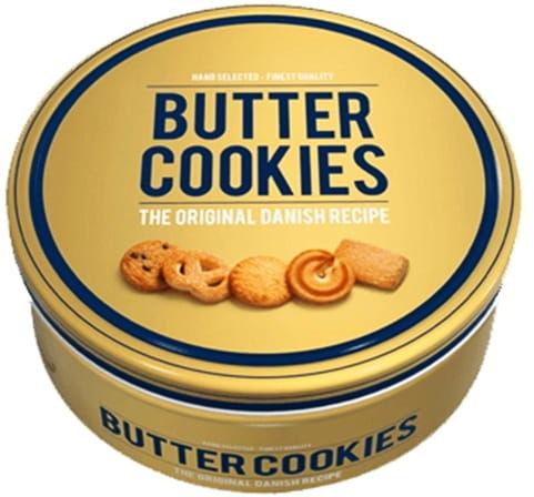 Ciasteczka maślane Butter Cookies 454g w złotej puszce