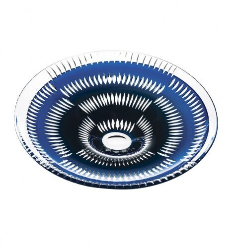 Talerz Double Blue Plate Catherine Wheel kryształ Vista Alegre