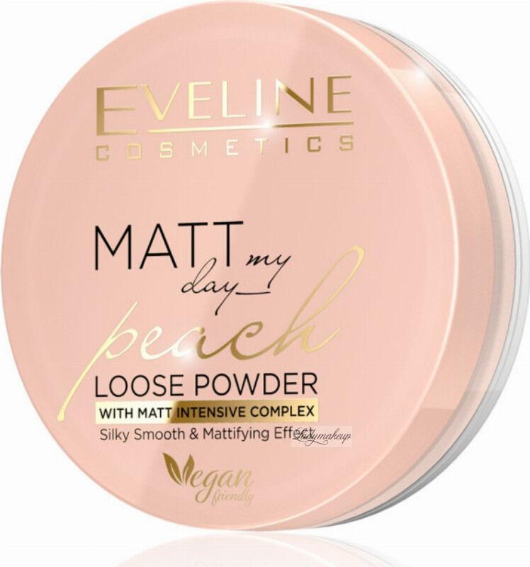 Eveline Cosmetics - MATT My Day Peach Loose Powder - Wygładzająco-matujący puder do twarzy - 6 g