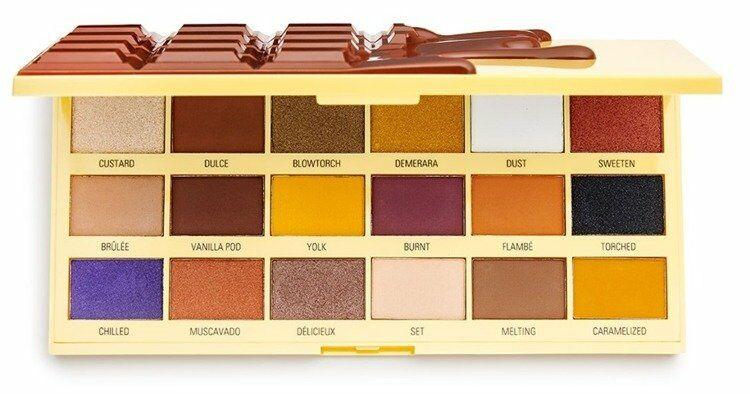 Makeup Revolution I Heart Revolution Creme Brulee Chocolate Paleta cieni do powiek CZEKOLADA