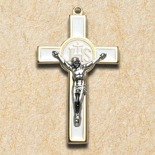 Krzyż metalowy na Komunię Świętą