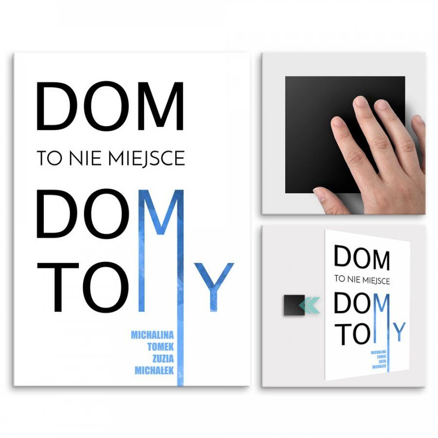 Plakat metalowy Dom To My M