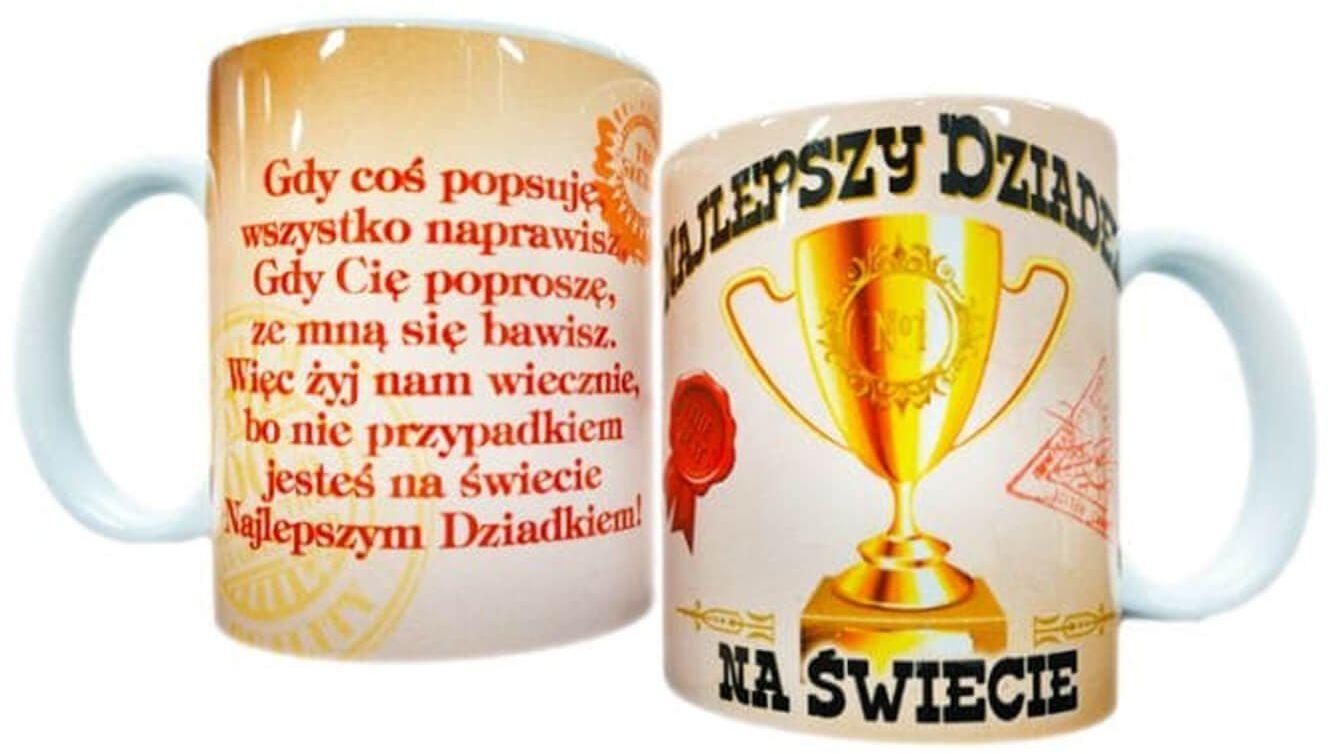 Kubek ceramiczny z wierszykiem Najlepszy Dziadek na świecie
