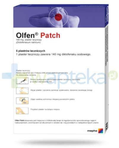 Olfen Patch plaster leczniczy 5 sztuk