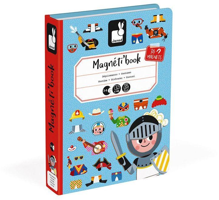 Puzzle magnetyczne dla dzieci modny chłopiec J02719-Janod, układanka magnetyczna