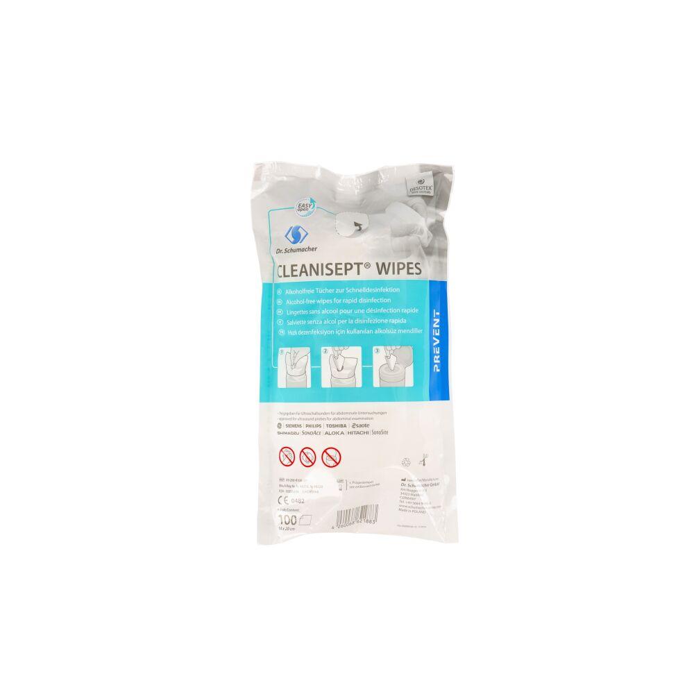 Cleanisept Wipes - bezalkoholowe chusteczki do dezynfekcji powierzchni 100 sztuk (Dr. Schumacher)