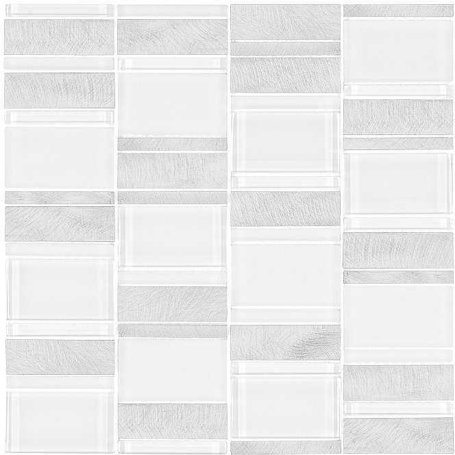 DUNIN Allumi Piano White mozaika metalowa