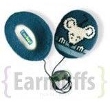 Nauszniki dla dzieci Myszka niebieskie