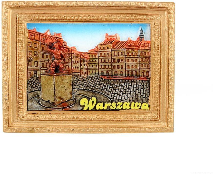 Magnes obraz złota rama Warszawa Syrenka