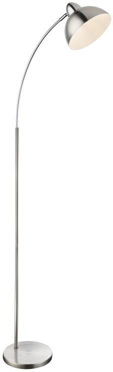 Globo ANITA 24703SN lampa podłogowa satyna nikiel chrom z wyłącznikiem 1xE27 23cm