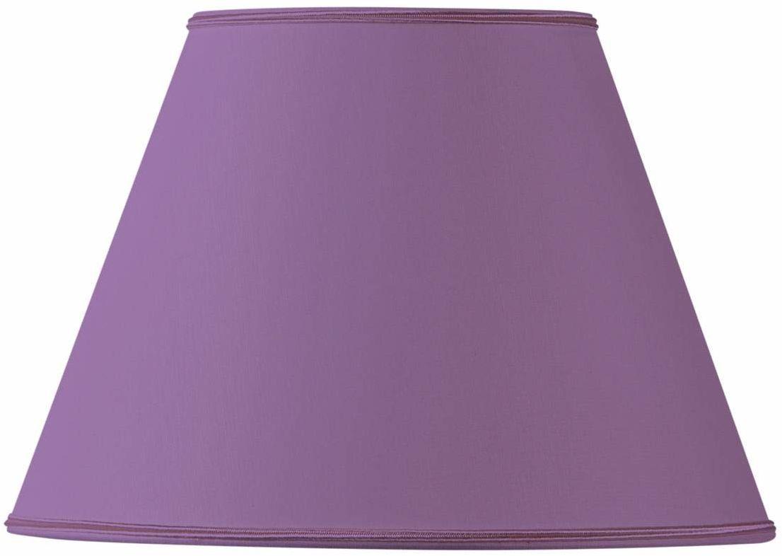 Klosz lampy z materiału, stożkowy, 35 x 18 x 24 cm, fioletowy