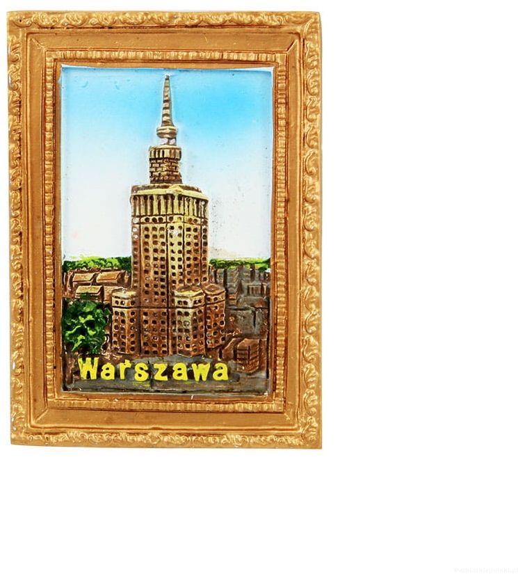 Magnes obraz złota rama Warszawa PKiN