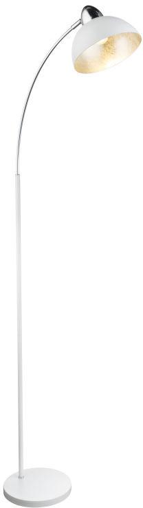 Globo ANITA 24703SW lampa podłogowa 1xE27 biały chrom srebrny dekor 1xE27 23cm