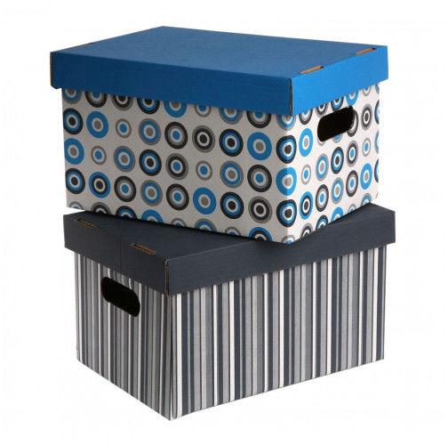 Pudełko / pojemnik do przechowywania kartonowy ozdobny z pokrywką MS Tworzywa Dla Domu 31 cm