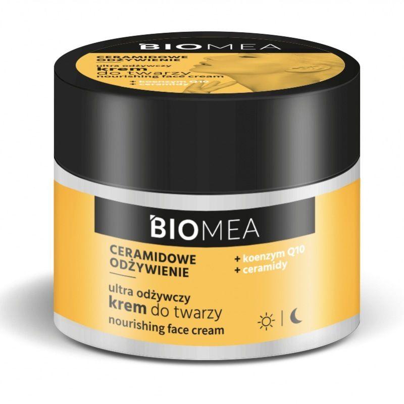 BIOMEA Krem odżywczy do twarzy na dzień i na noc koenzym Q10 ceramidy 50 ml