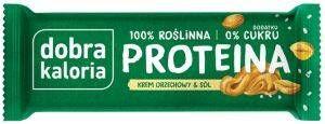 Baton Proteinowy Krem Orzechowy i Sól 45g - Dobra Kaloria