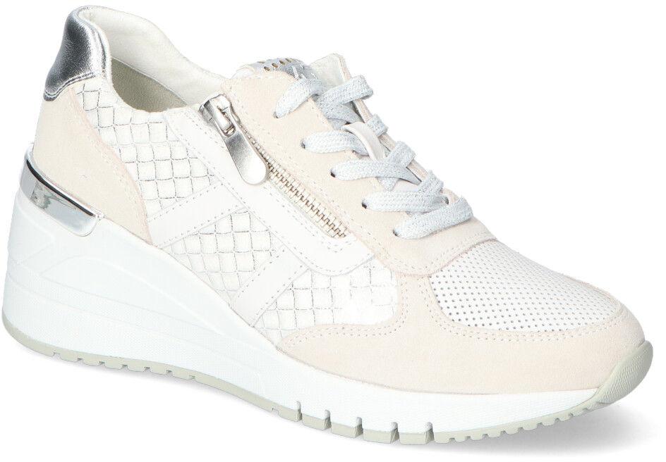 Adidasy na koturnie Marco Tozzi Białe