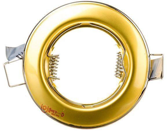 Oprawa punktowa 1x50W GX5,3 IIkl. 12V IP20 HORN CTC-3114-PS/G perłowo srebrny/złoty 02822