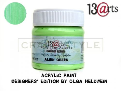 Farba akrylowa 50 ml ALIEN GREEN
