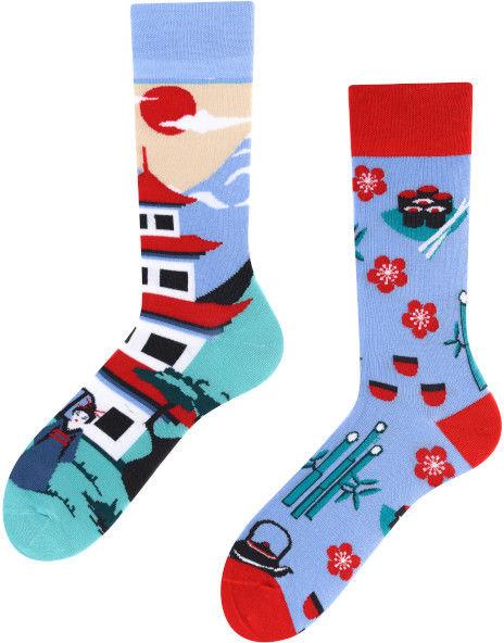 Tanuki, Todo Socks, Japonia, Azja, Orient, Kolorowe Skarpety