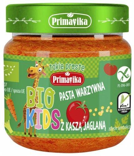 Pasta Warzywna z Kaszą Jaglaną dla Dzieci KIDS BIO 160g - Primavika