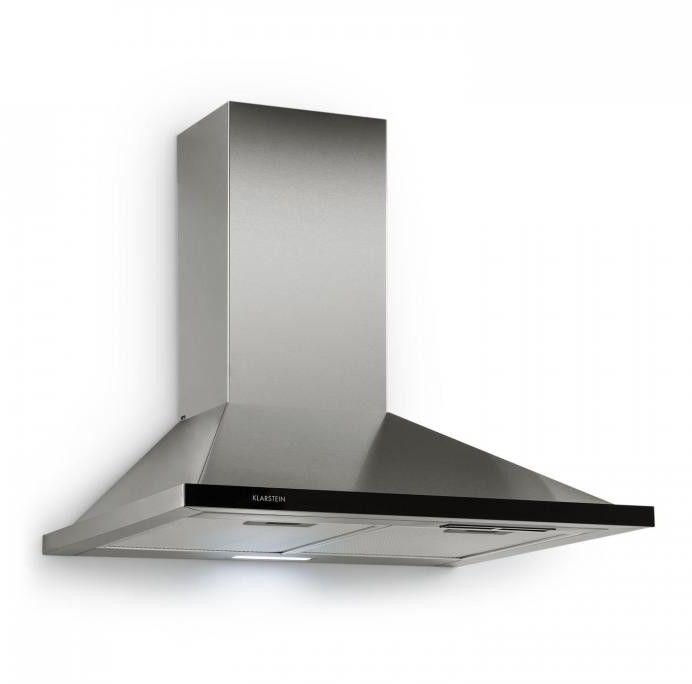 Klarstein Galina okap kuchenny wyciąg 60 cm 350 m/h LED stal nierdzewna szkło akrylowe