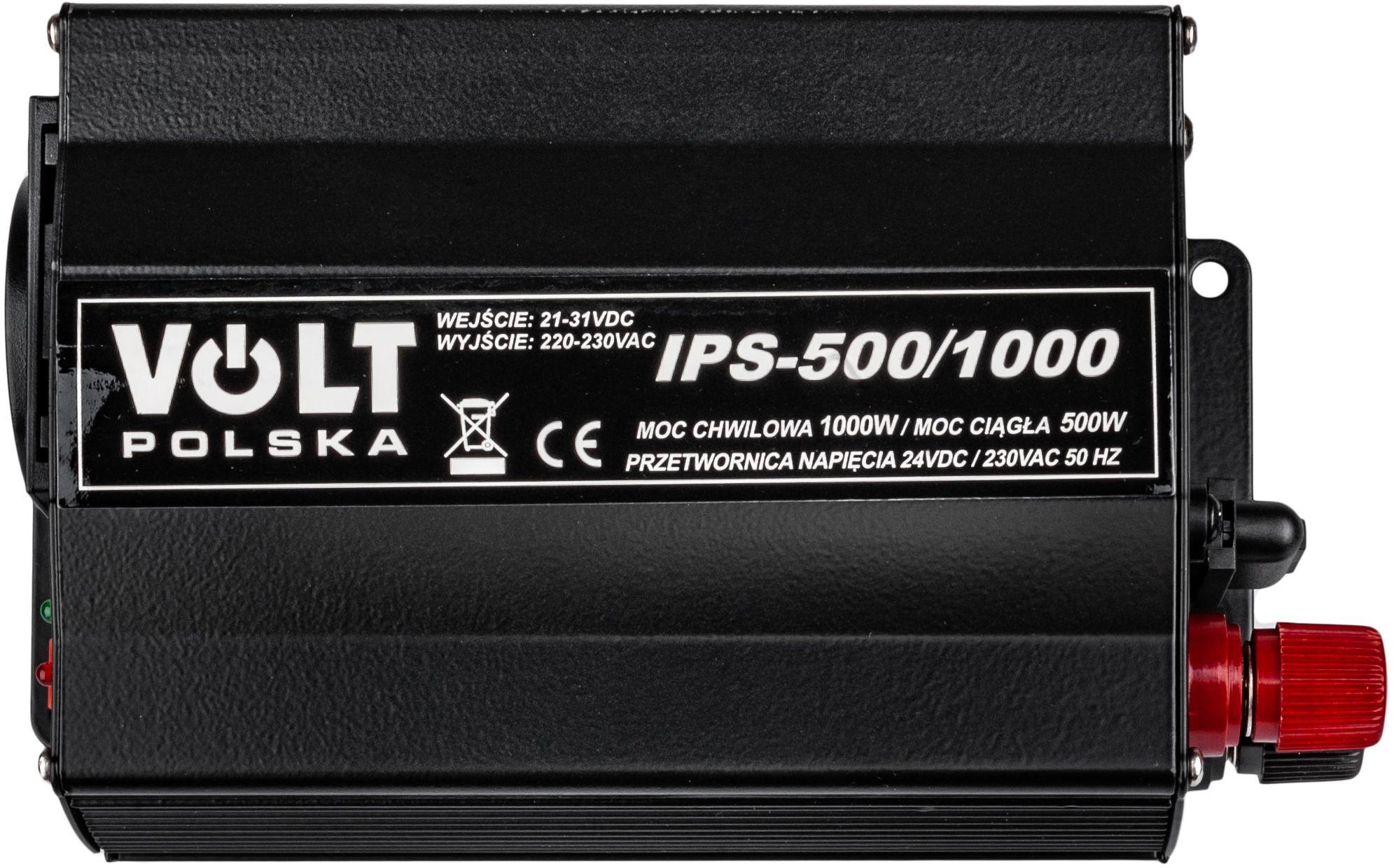 Przetwornica napięcia prądu IPS-500/1000 (24V/230V/1000W) VOLT POLSKA