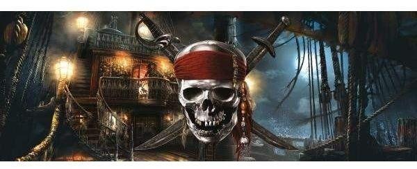 Fototapeta piraci z karaibów czaszka