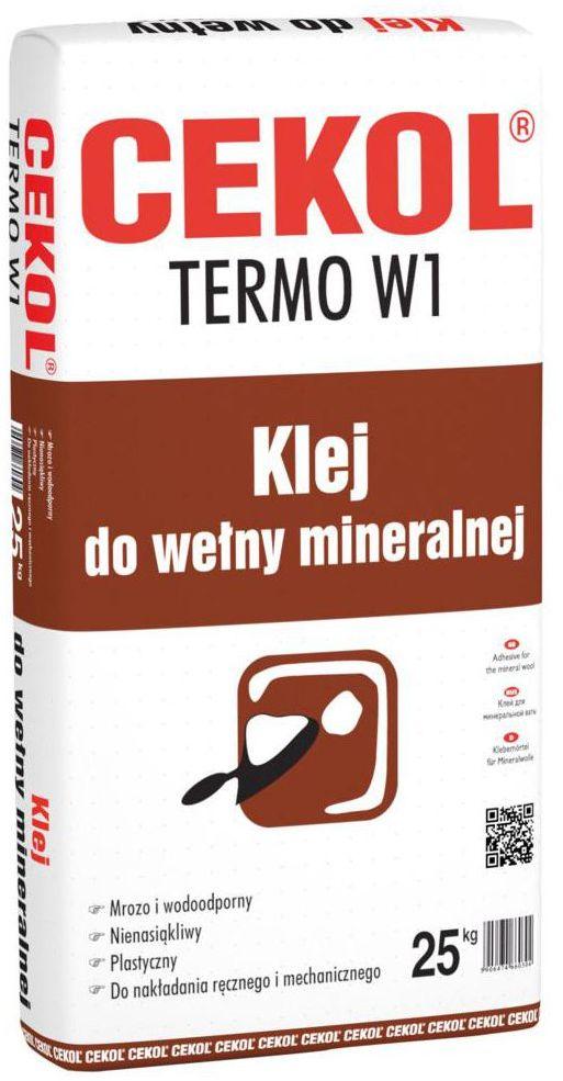 Klej do wełny mineralnej TERMO W1 CEKOL