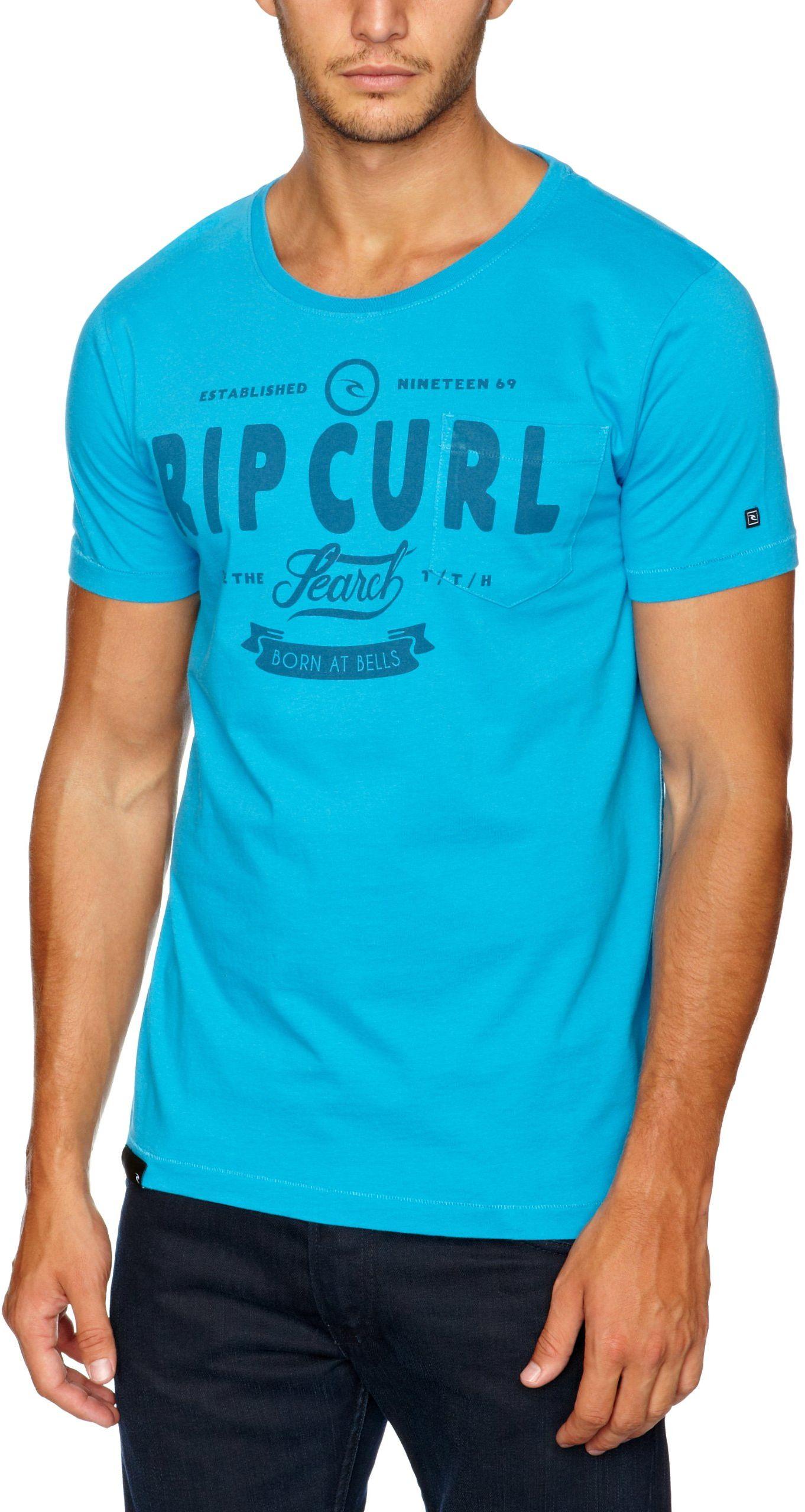 RIP CURL Kolaż koszulka męska z krótkim rękawem logo Drezno Blue S