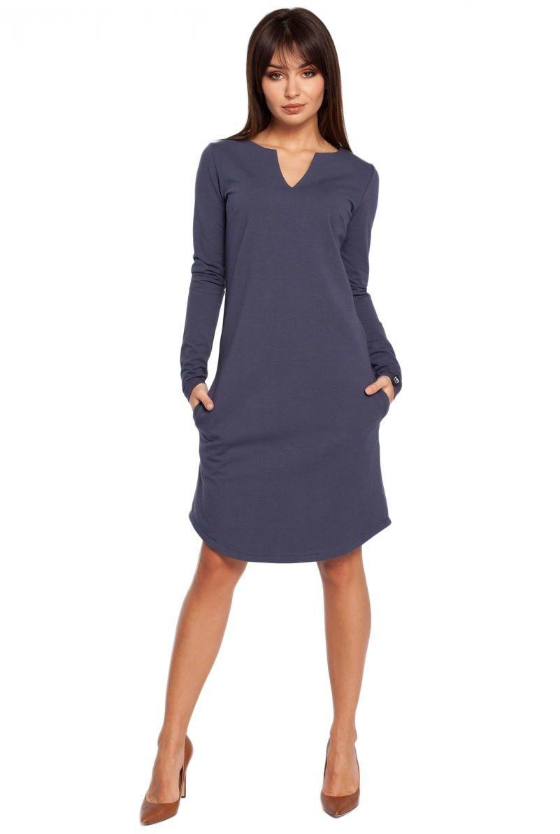 B017 sukienka niebieska