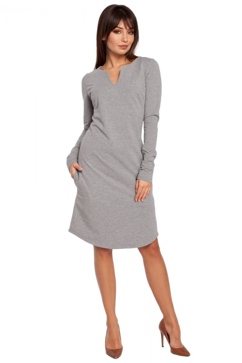 B017 sukienka szara