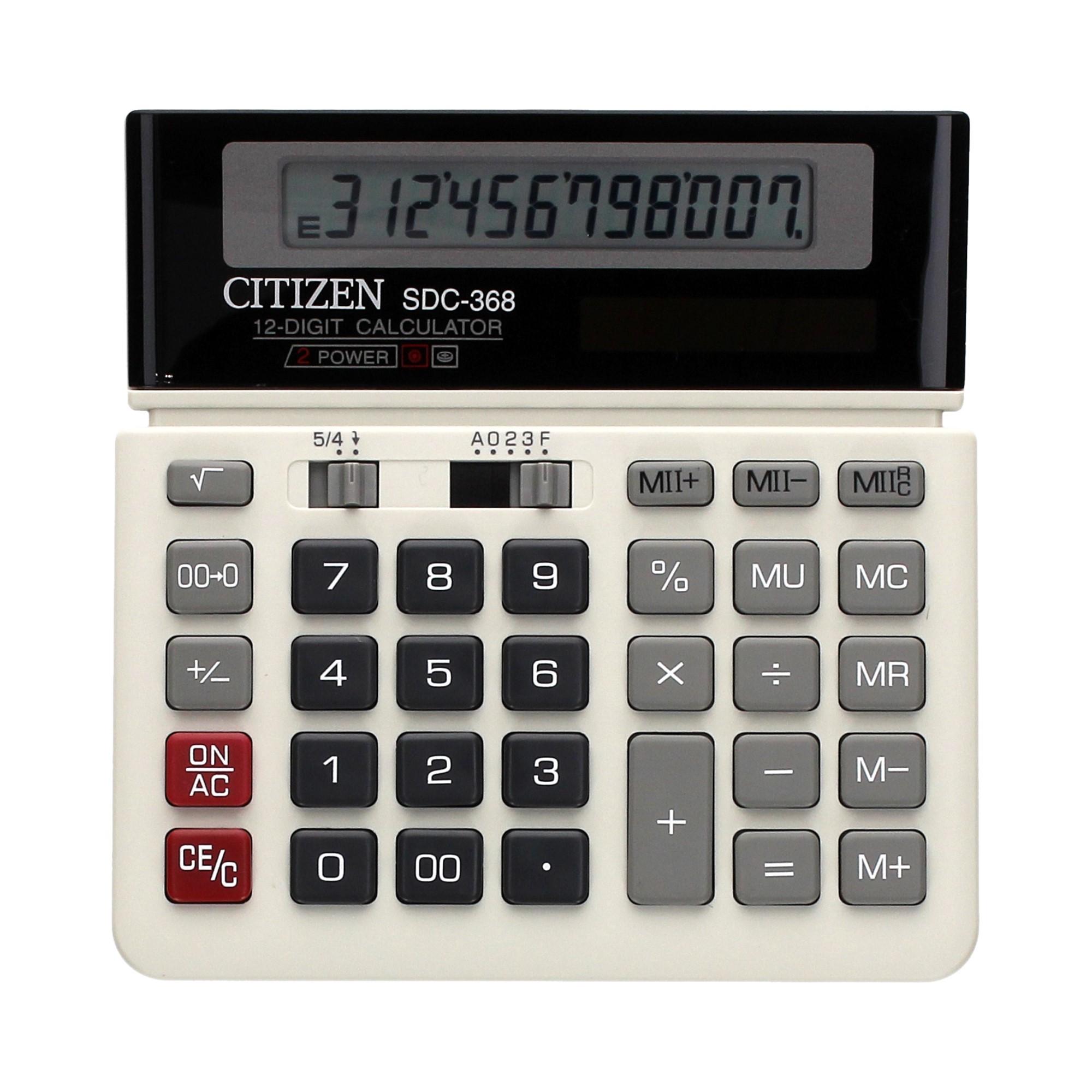 Kalkulator 12pozycyjny SDC368 Citizen