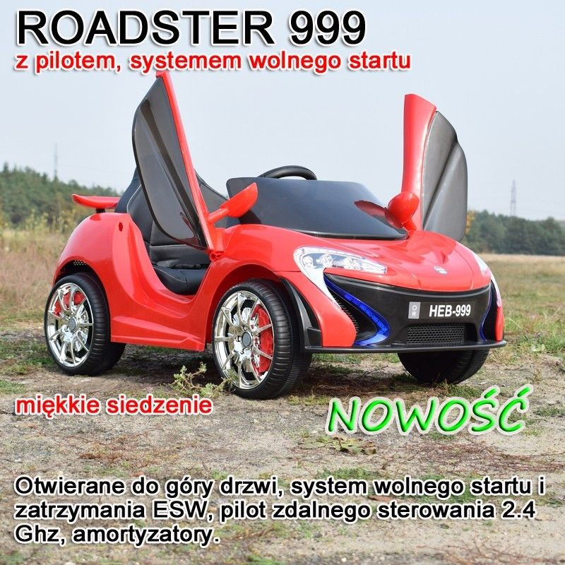 AUTO ROADSTER EXCLUSIVE, MIĘKKIE SIEDZENIE/HEB999