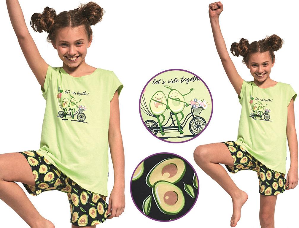 Piżama dziecięca MONIKA: limonka/granat
