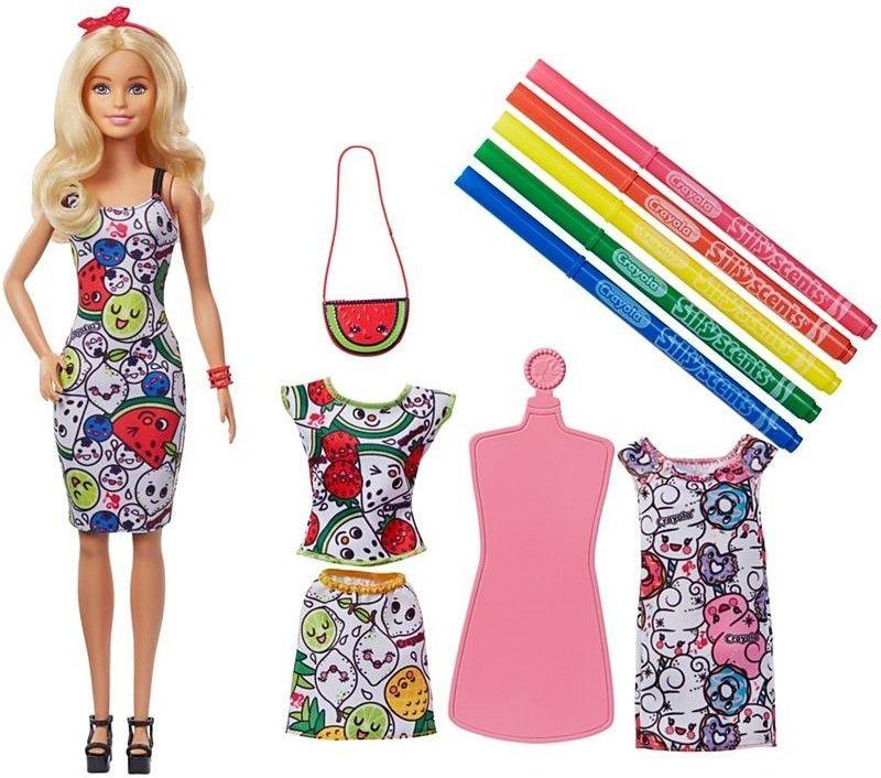 Barbie - Crayola Pachnące kolory lalka GGt44
