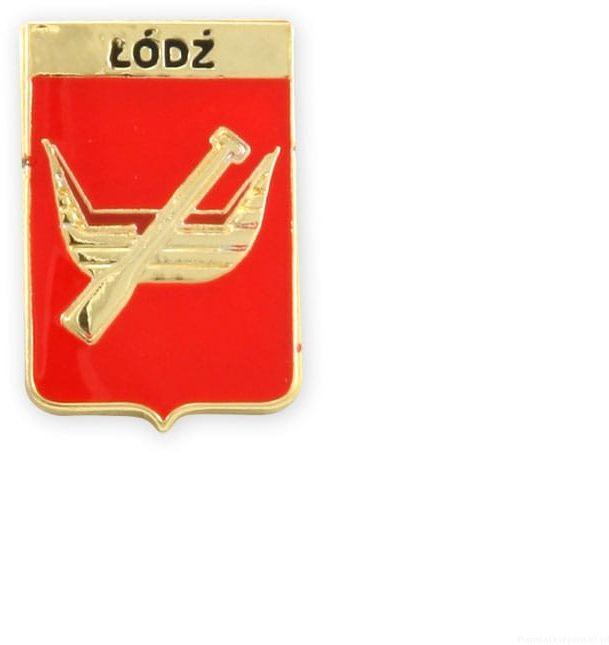 Herb Łódź - przypinka