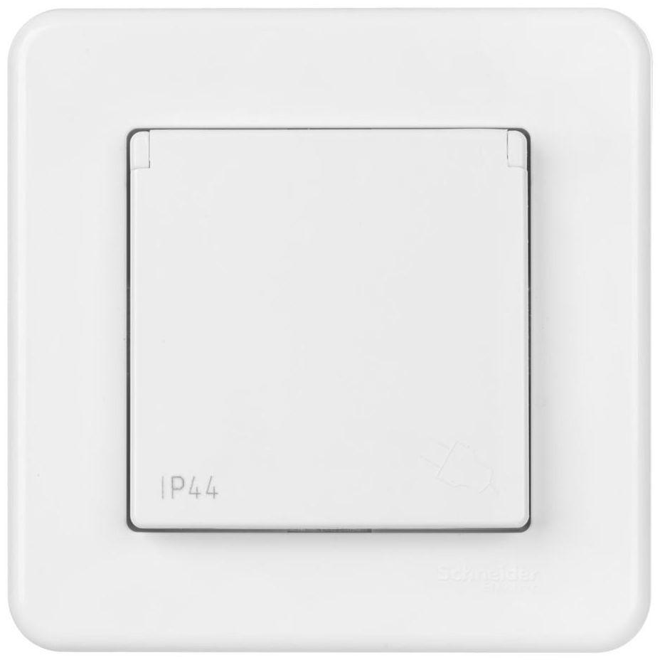 Gniazdo pojedyncze LEONA IP44 Biały SCHNEIDER ELECTRIC