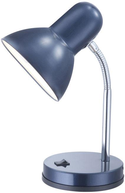 Globo BASIC 2486 lampa stołowa chrom niebieski 1xE27 13cm